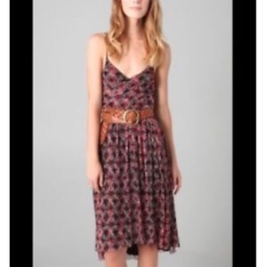 ree People Floral Mesh Hi Low Strappy Midi Dress Size Small